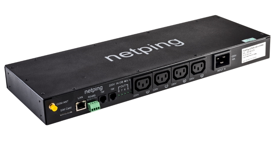 NetPing Issued Firmware Update DKSF 48.4.11 for a NetPing 8/PWR-220 v4/SMS Power Distribution Unit