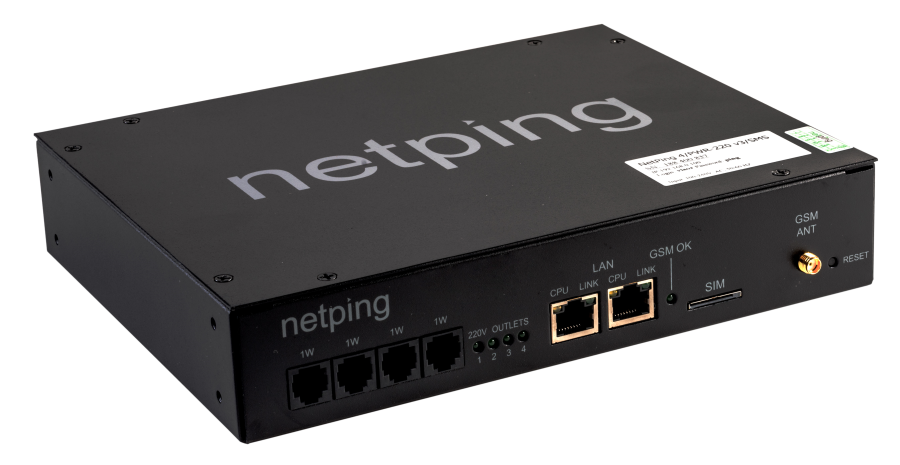 NetPing Issued Firmware Update DKSF 54.3.4 for a NetPing 4/PWR-220 v4/SMS Power Distribution Unit