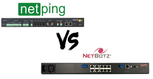 How Different UniPing server solution v4/SMS Is From NetBotz Rack Monitor 200 (NBRK0201)?