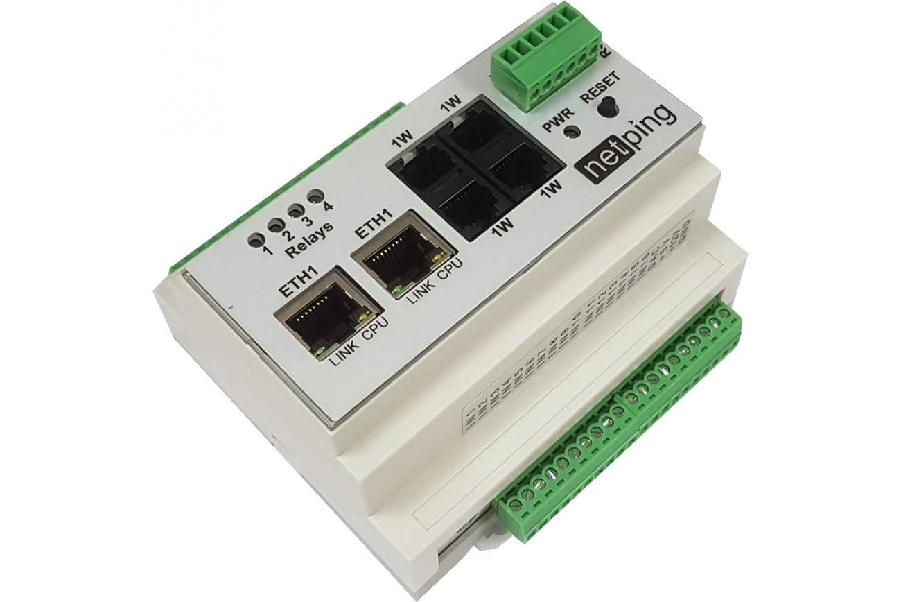 NetPing Input+Relay R404